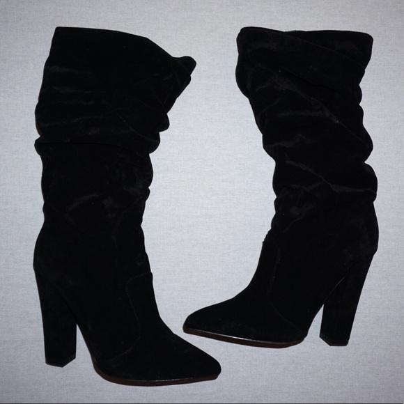 carvela scrunch slouch boots